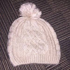 knitted beanie with pearl details